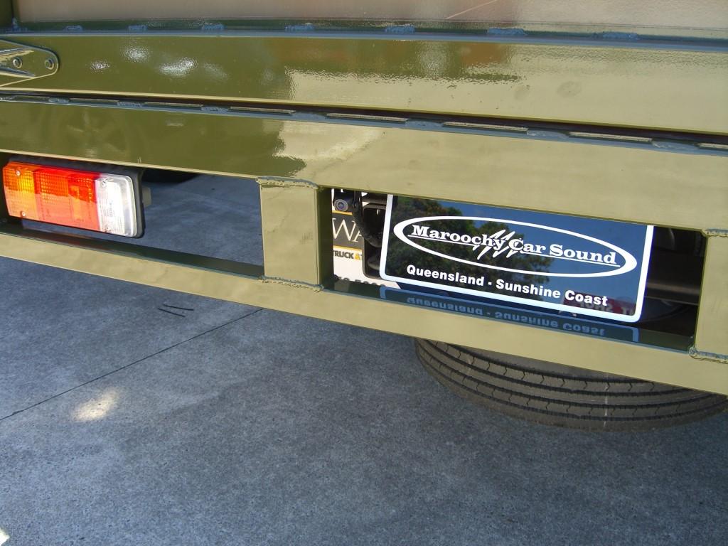 Hino Mini Tip Truck reverse camera system