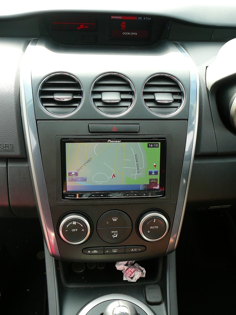 Mazda CX7 with a Pioneer GPS Navigation system