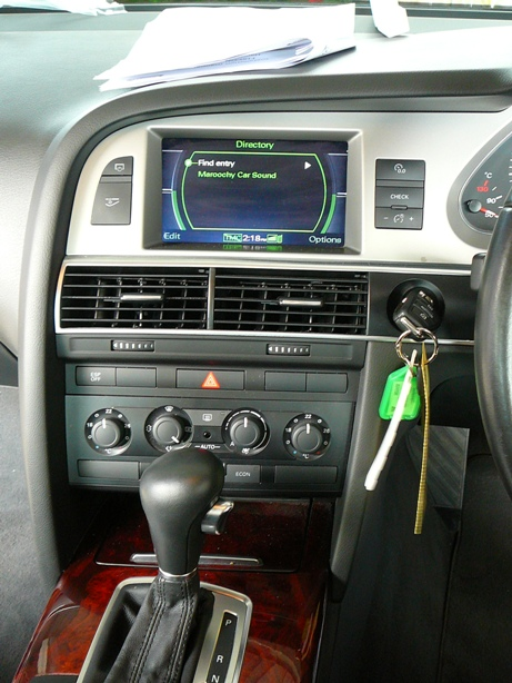AAudi A6 MMI system with integrated bluetooth phone kitRTICLE MASTER