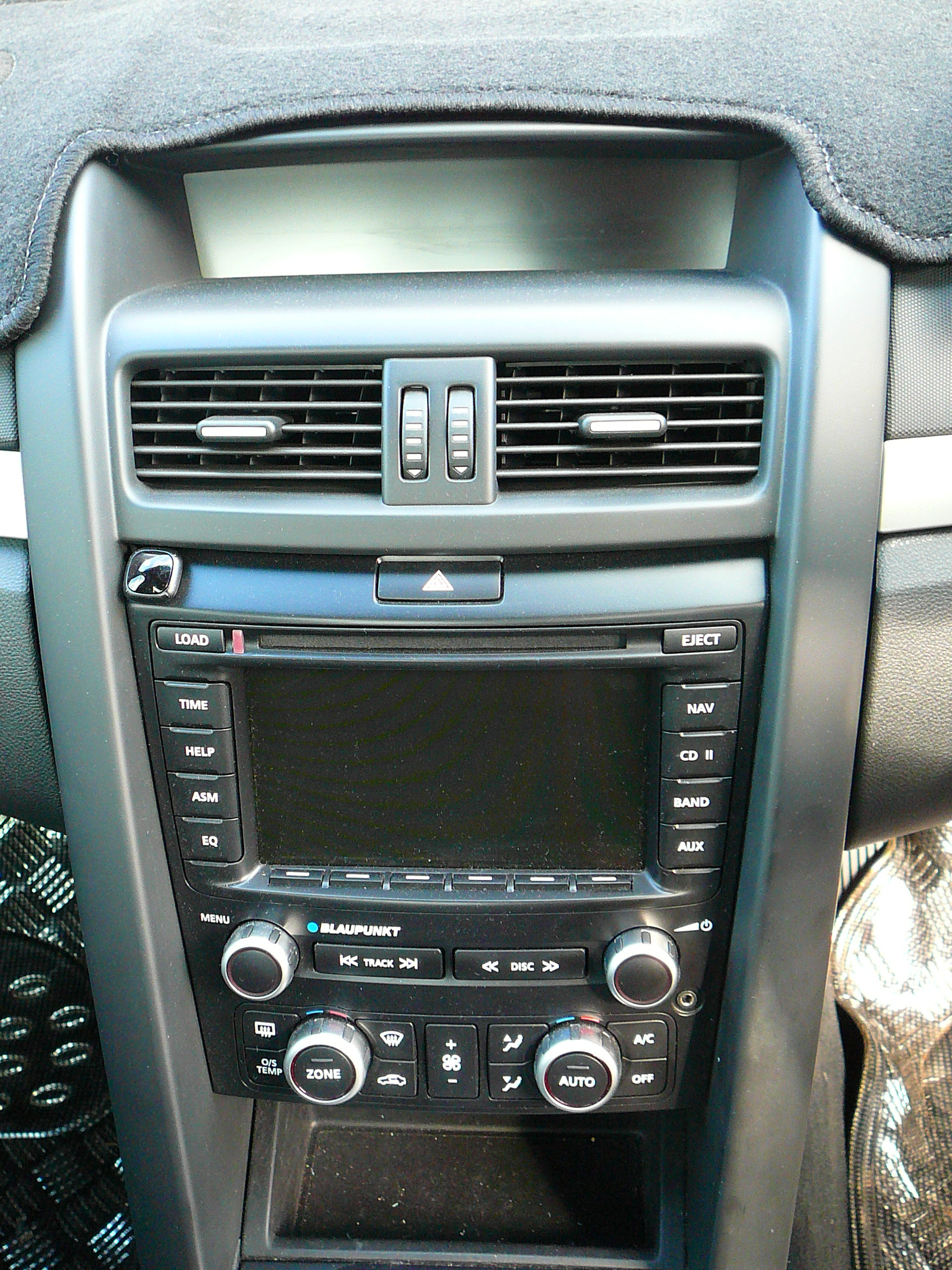 Holden VE Commodore with an aftermarket dash kit and an Alpine GPS Naviagtion unit