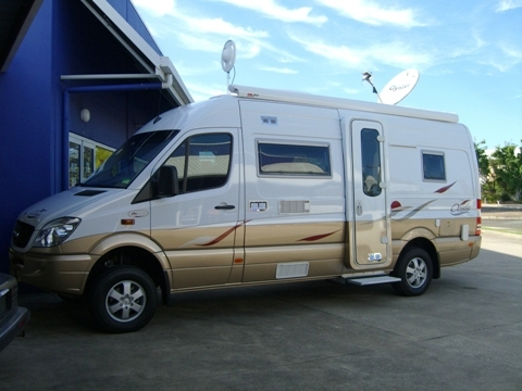 MCS Mercedes Benz Motor Home demostration vehicle