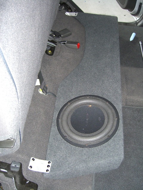 Nissan Navara D40 Custom Under Seat Subwoofer Enclosure Maroochy Car Sound
