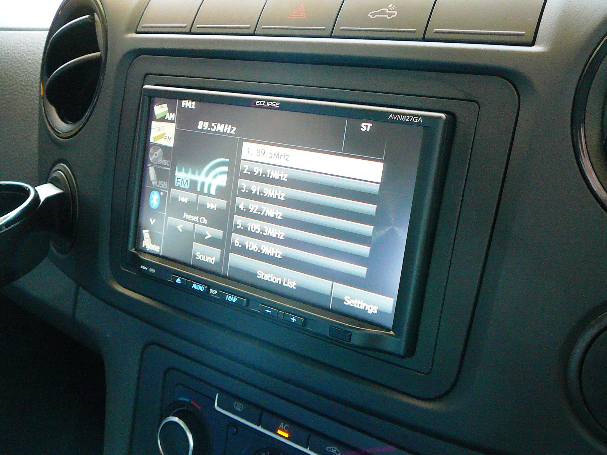 VW AMAROK GPS NAVIGATION, ECLIPSE AVN827GA INSTALLATION
