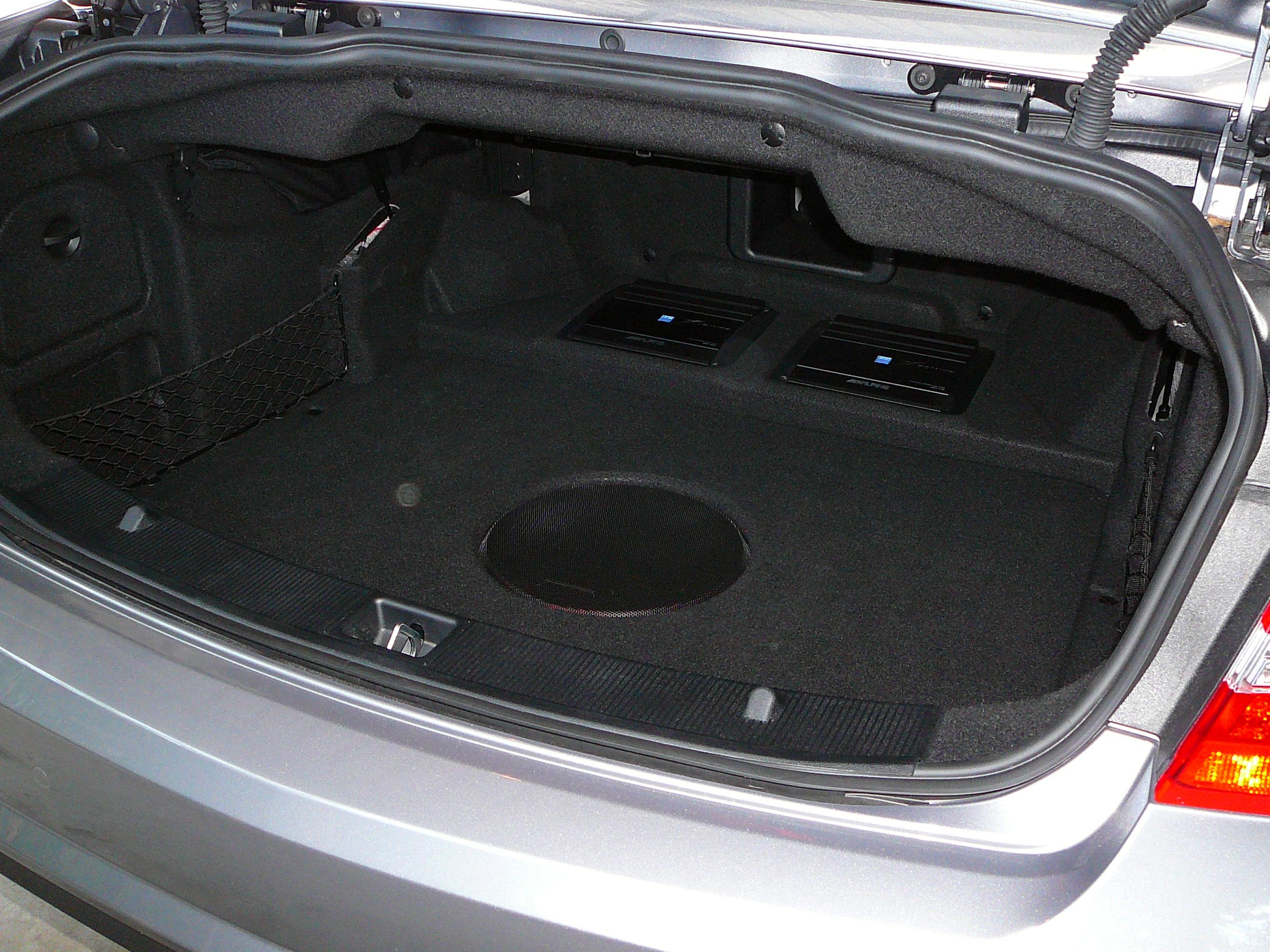 Mercedes Benz E Class Custom Subwoofer & Amplifier Installation