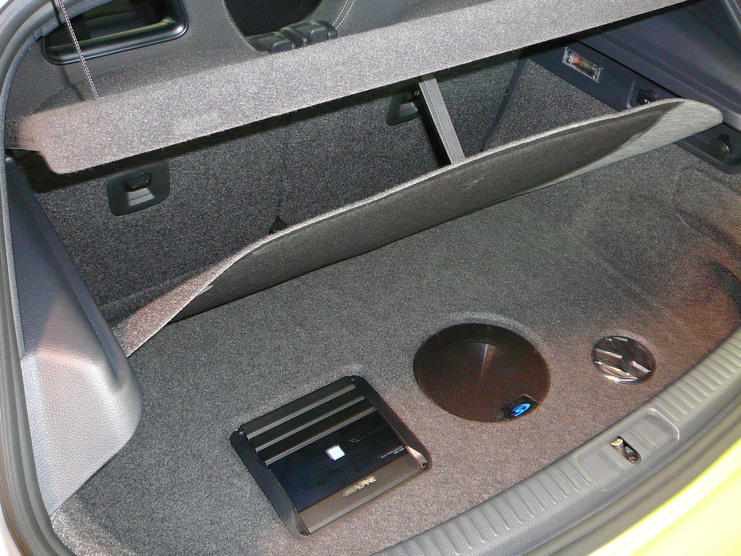 Volkswagen Scirocco R 2012, Custom Sub Box and Amplifier Installation