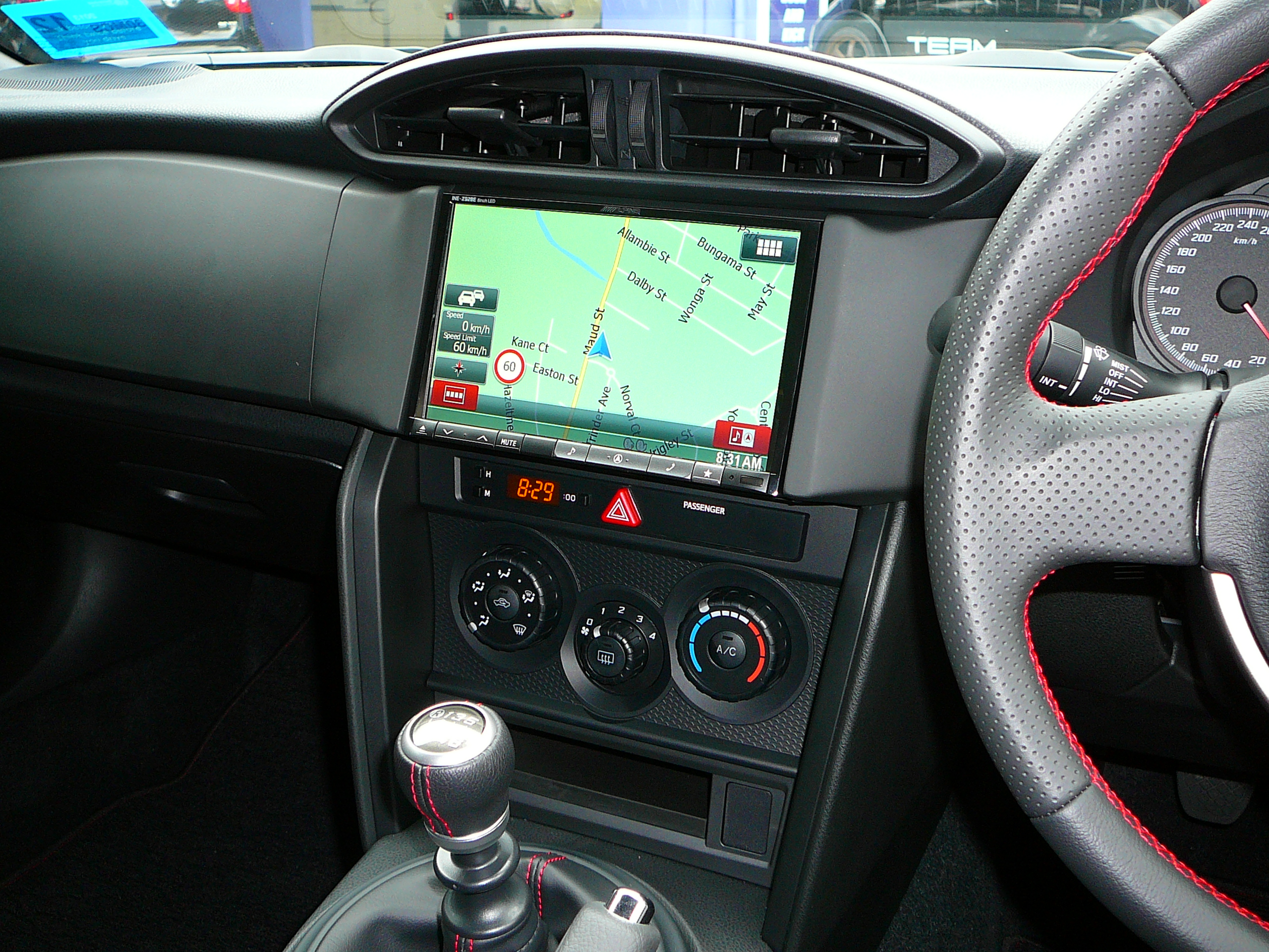 Toyota 86 – Alpine INE-Z928E In-dash GPS Navigation Unit