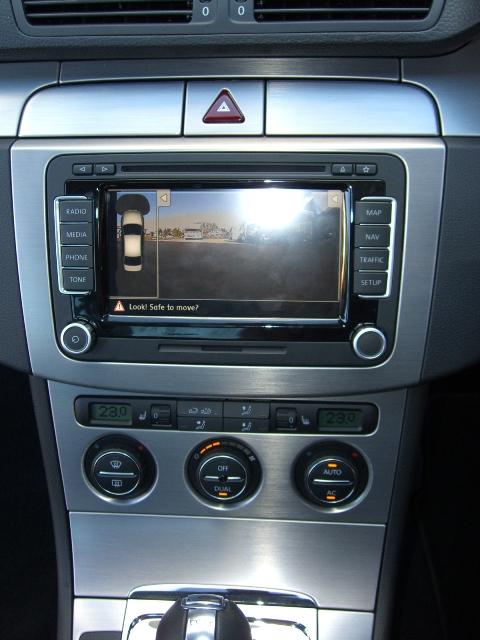 VW Passat R36 reverse camera and phone kit installation