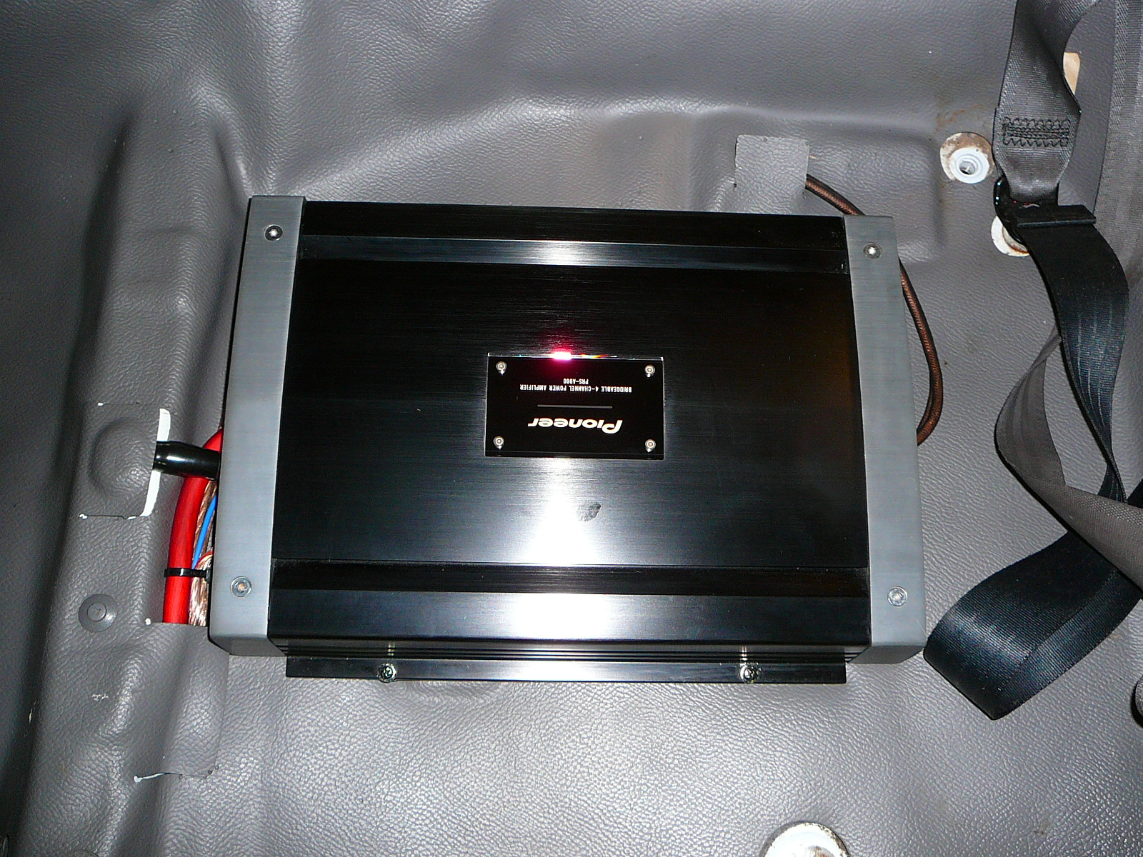 Mazda Bravo, Focal Utopia speakers and Pioneer PRS amplifier