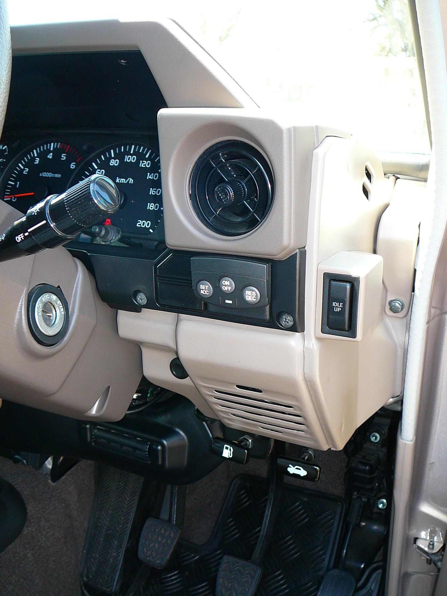 Brake Controller Installation >> Toyota Landcruiser 70 Series, Pad mount Cruise Control ...