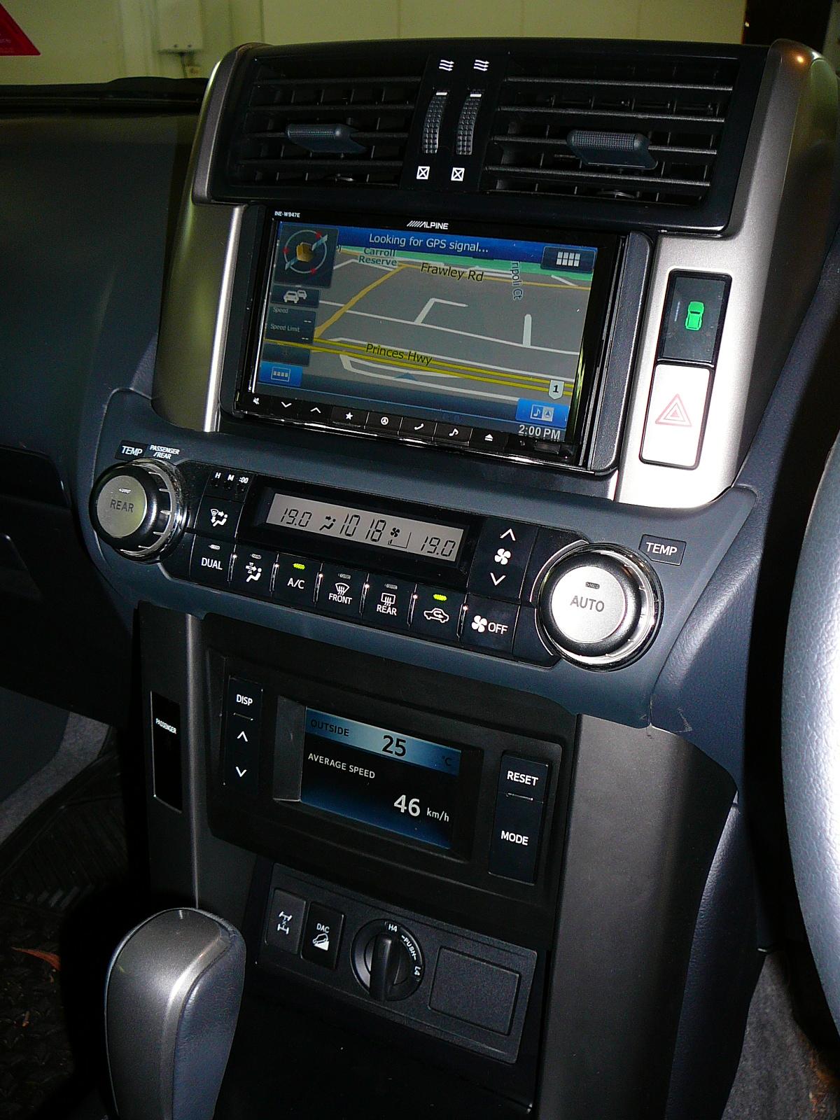Toyota Prado 150 series, Alpine Navigation and relocation of