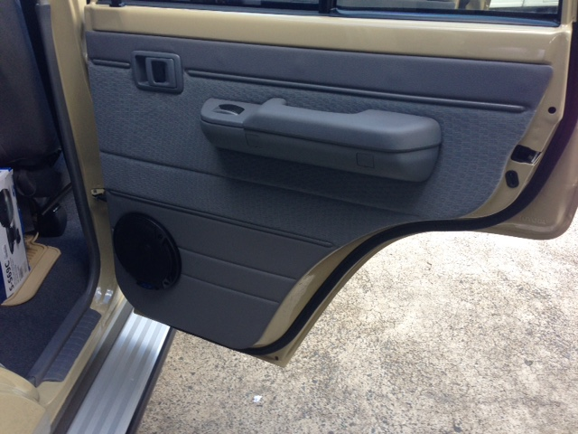 Custom front and rear door panels for Toyota 79 Series LandCruiser