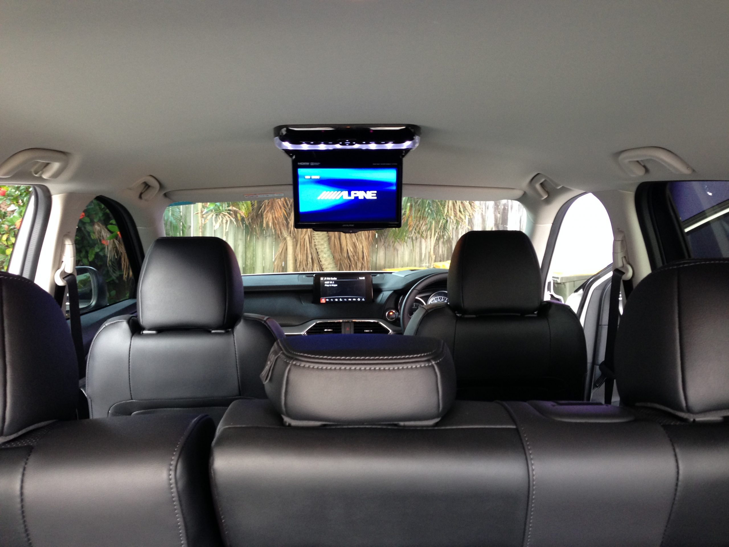 Alpine RSE Roof DVD player with 10″screen