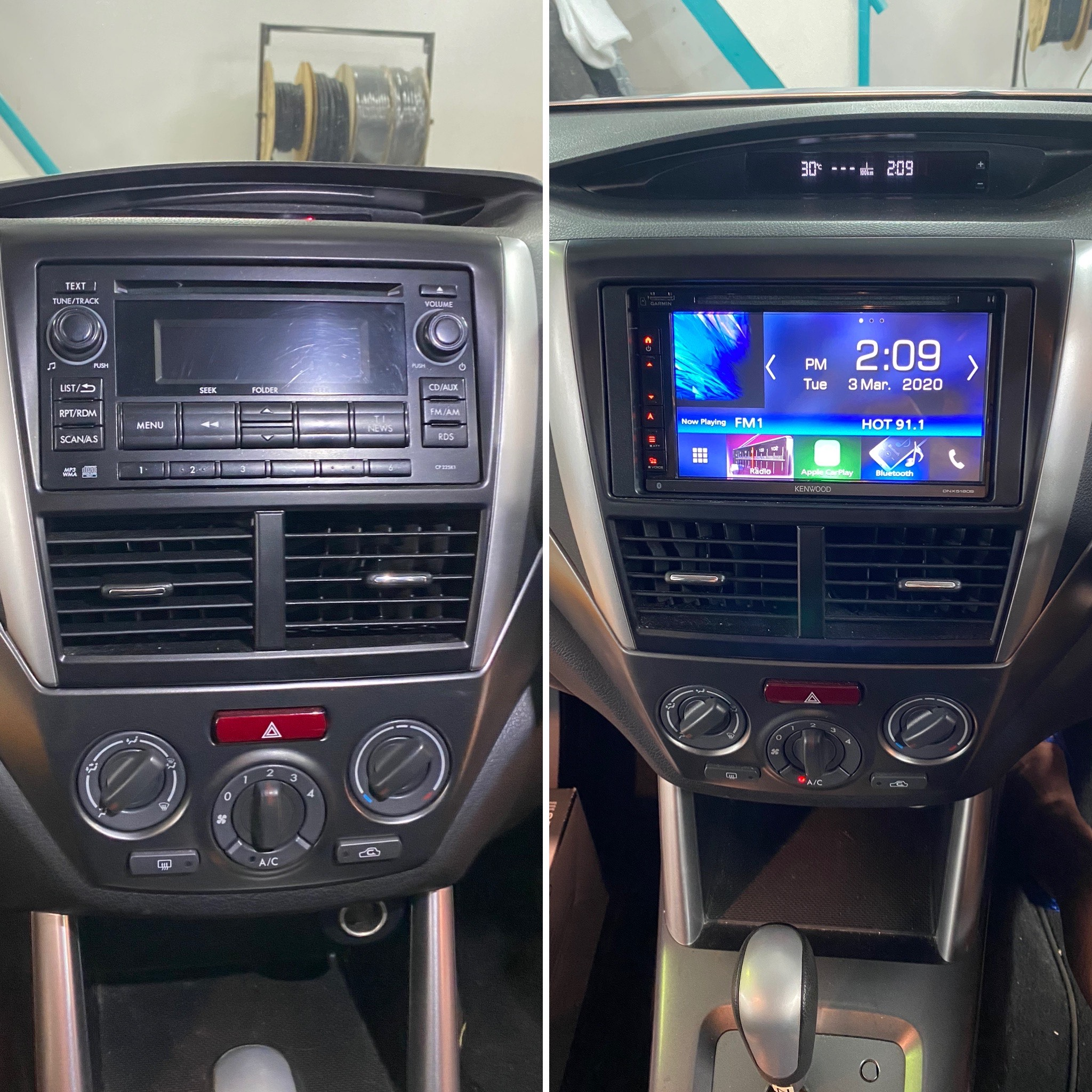 Subaru Forester 2008 – 2012 stereo upgrade with Apple Car Play and Android Auto